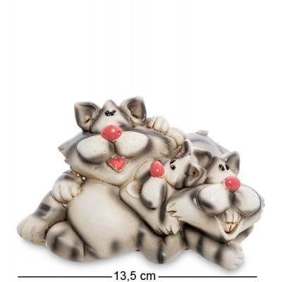"Статуэтка-копилка ""Друзья-коты"", 13,5х10,5х8,5 см., полистоун"