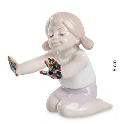 """Фигурка """"Юный художник"""" 5,5x8,5x8 см., фарфор Pavone, Италия"""