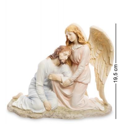 "Статуэтка ""Иисус и Ангел"", 23х10,5х21 см., полистоун Veronese, Гонконг"
