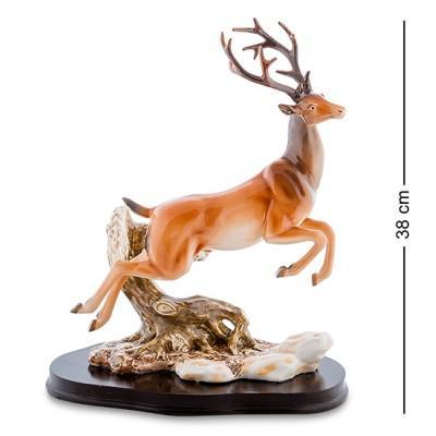 """Статуэтка-композиция """"Благородный Олень"""" 30x20x38 см., фарфор Pavone, Италия"""