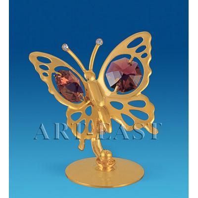 "Фигурка ""Бабочка"" 5,5x5,5x5 см., с цвет. крист. Crystal Temptations, США"