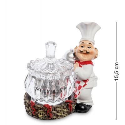 "Фигурка ""Повар с вазочкой"" 15.5 см., полистоун"