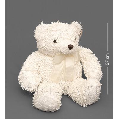 Мягкая игрушка медведь с бантиком - кремовый 46см., Color Rich