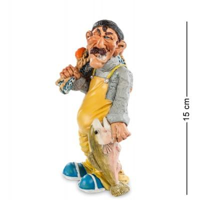 "Статуэтка ""Рыбак"" 7,5x6,5x15 см., полистоун Warren Stratford Канада"