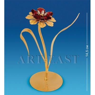 """Фигурка """"Цветок с двумя листочками"""" 9x6x14,5 см., с цвет. крист. Crystal Temptations, США"""