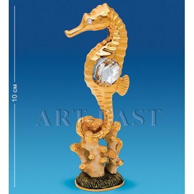 "Фигурка на кораллах ""Морской конек"" 3,5x3x10 см., Crystal Temptations, США"