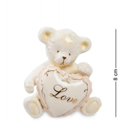 """Набор для специй соль-перец """"Медвежонок с сердечком"""" 7,5x6,5x8 см., Pavone, Италия"""