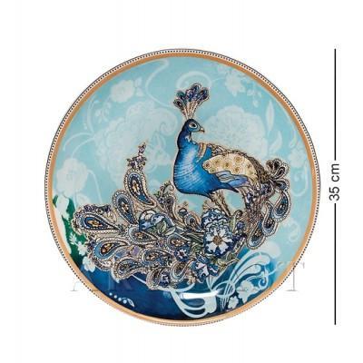 """Блюдо """"Павлин"""" 35 см., Blue Sky, Италия"""