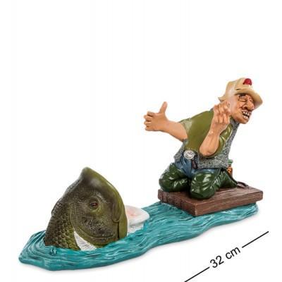 "Статуэтка-подставка под бутылку ""Рыбак"" 32x13,5x18 см., полистоун Warren Stratford Канада"