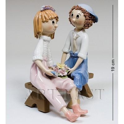 "Фигурка ""Влюбленная парочка"" 18,5x16x20,5 см., Pavone, Италия"