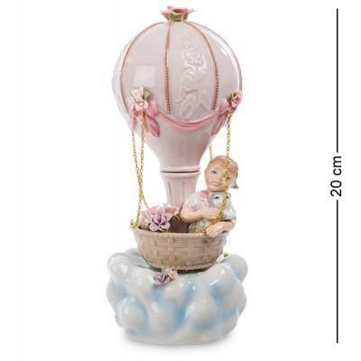 """Фигурка муз. """"Девочка на воздушном шаре"""" 9x9x20 см., Pavone, Италия"""