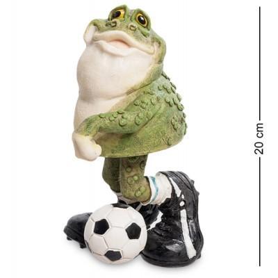 "Фигурка ""Футболист Фрогги"" 10x12,5x20 см., полистоун Sealmark, США"