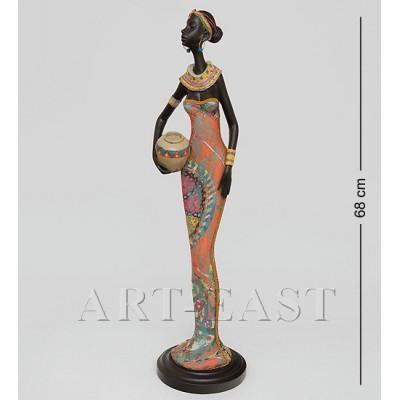 """Статуэтка """"Африканская леди"""" 19x18x68 см., полистоун"""