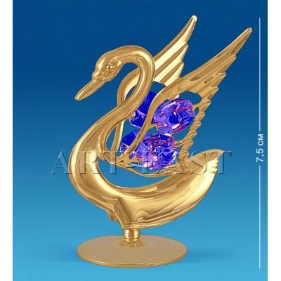 "Фигурка ""Лебедь"" 6x6x7,5 см., с цвет. крист. Crystal Temptations, США"