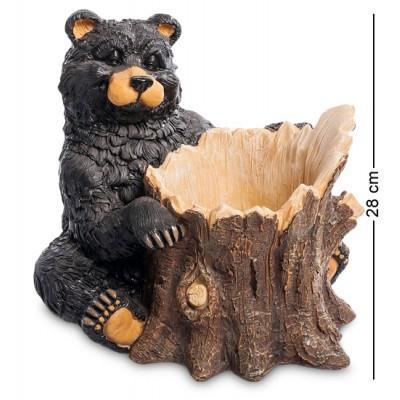 "Статуэтка Кашпо ""Медведь"" 30x29x28 см., полистоун Sealmark, США"