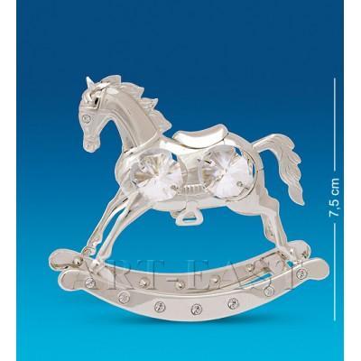 """Фигурка """"Лошадь"""" 8,5x2,5x7,5 см., посеребр. Crystal Temptations, США"""