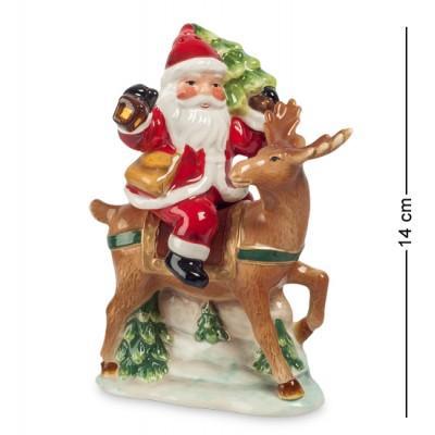 """Набор для специй соль-перец """"Санта на олене"""" 10,5x6x14 см., Pavone, Италия"""