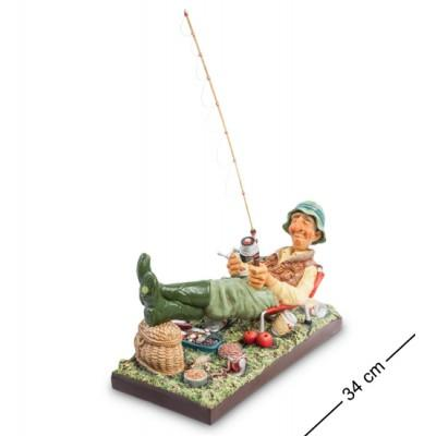 "Статуэтка ""Рыбак"" 34x18x25 см., полистоун Forchino, Франция"