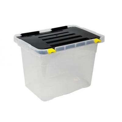 Ящик-контейнер пластиковый с крышкой 18 л., 39.5х27х27.5см., Италия