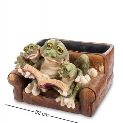 "Статуэтка-кашпо ""Лягушки в кресле"" 32x30,5x23 см., полистоун Sealmark, США"