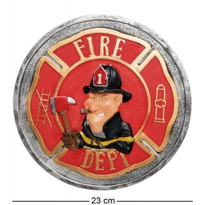 Панно ''Пожарный'', 23х23х1 см., полистоун Warren Stratford, Канада