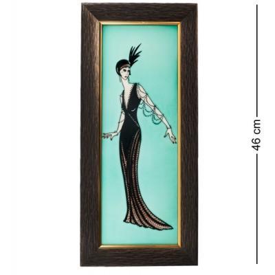 """Картина """"Дама"""" 21x2,5x46 см., фарфор Pavone, Италия"""