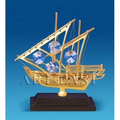 "Фигурка ""Яхта на подставке"" 10x3,5x11 см., Crystal Temptations, США"