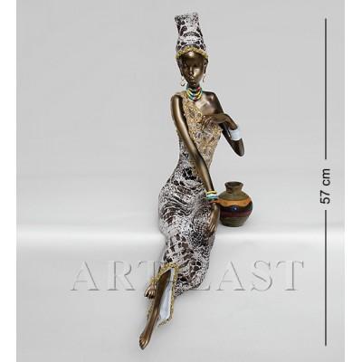 """Статуэтка """"Африканская леди"""" 21,5x23x57 см., полистоун"""