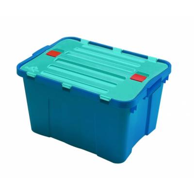 Ящик-контейнер пластиковый с крышкой 34 л., 49х36х28см., Италия