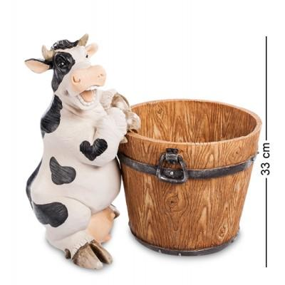 """Статуэтка-кашпо """"Корова с кадушкой"""" 38x23x33 см., полистоун Sealmark, США"""