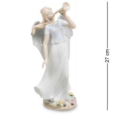 "Статуэтка ангел ""Волшебная труба"" 14x12x27 см., фарфор Pavone, Италия"