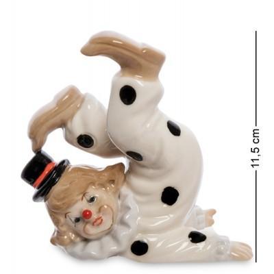 "Фигурка ""Клоун"", 12,5х7,5х11,5 см., фарфор"