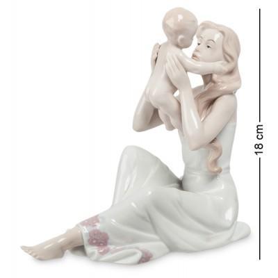"""Фигурка """"Девушка с ребенком"""", 18,5x10,5x18 см., фарфор Pavone, Италия"""