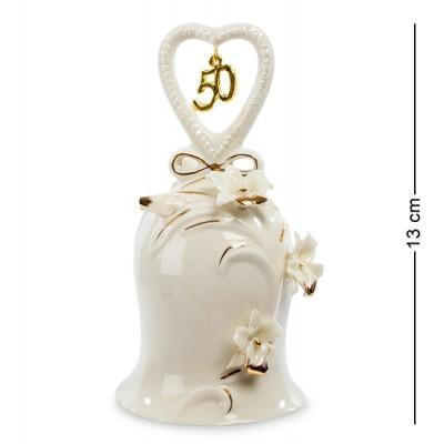 """Колокольчик """"Золотая Свадьба"""" 6,5x6,5x13 см., Pavone, Италия"""