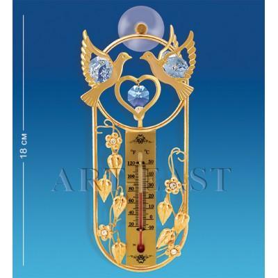 "Термометр на липучке ""Голуби"" 16,5x6,5x3,5 см., Crystal Temptations, США"
