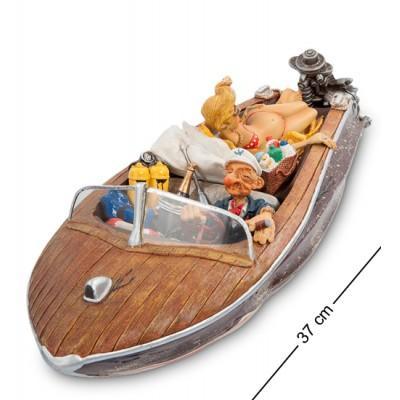 Статуэтка лодка 37x15,5x12 см., полистоун Forchino, Франция