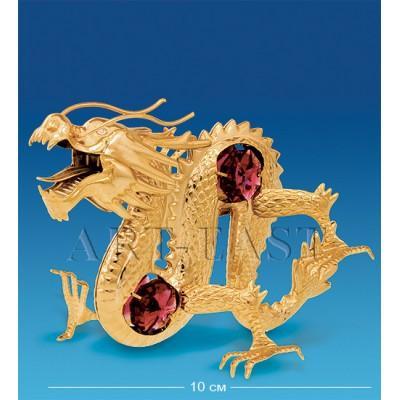 """Фигурка """"Дракон"""" 10x6x7,5 см., с цвет. крист. Crystal Temptations, США"""