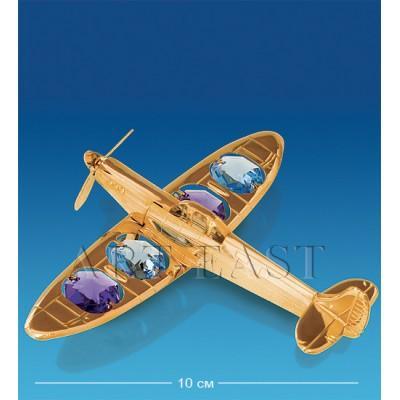 """Фигурка """"Самолет"""" 9x10x3 см., с цвет. крист. Crystal Temptations, США"""