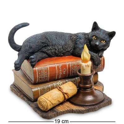 "Статуэтка ""Кот на книгах"" (Лиза Паркер), 11х12х24 см., полистоун Veronese, Гонконг"