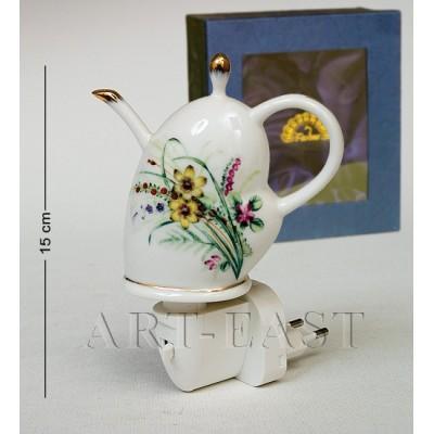 "Светильник ""Чайник"" 10.5х5.5х15 см., фарфор Pavone, Италия"