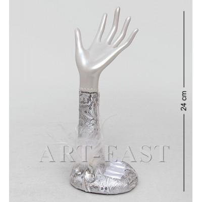 """Подставка для украшений """"Рука невесты"""", 9х9х24 см., полистоун"""