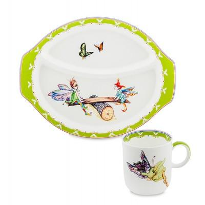 """Детский набор посуды """"Эльф"""" 250мл., 2 предм. фарфор Pavone, Италия"""