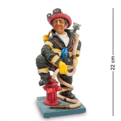 """Статуэтка """"Пожарный"""" 10x10x22 см., полистоун Forchino, Франция"""