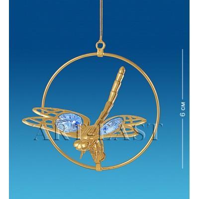 """Фигурка подвесная """"Стрекоза"""" 5,5x7x7 см., Crystal Temptations, США"""