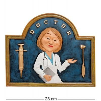 Панно ''Доктор'', 23х1х19 см., полистоун Warren Stratford, Канада