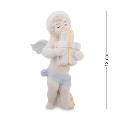 "Фигурка ""Ангел с подарками"" 5,5x8,5x12 см., фарфор Pavone, Италия"