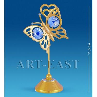 """Держатель для визиток """"Бабочка"""" 5,5x4,5x11,5 см., Crystal Temptations, США"""