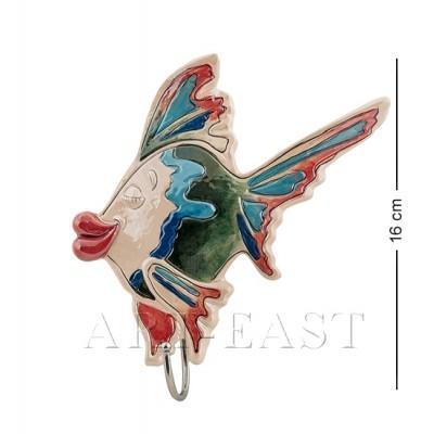 """Крючок для полотенца """"Рыба"""" 16x4,5x16 см., Blue Sky, Италия"""