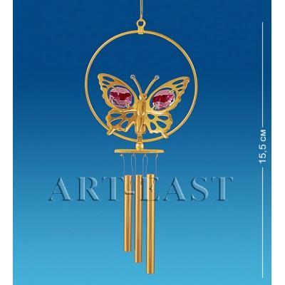 """Поющий ветерок """"Бабочка"""" 6,5x3x19 см., с цвет. крист. Crystal Temptations, США"""