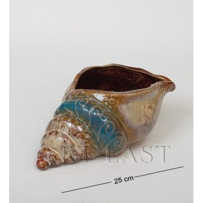 Ваза-кашпо Ракушка 25 см., керамика